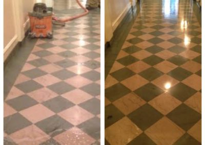 Boston Stone Before After Marble Floor