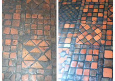 antique tile & grout restoration