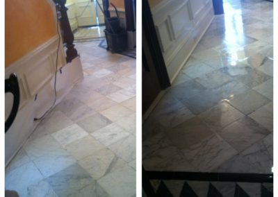 100 year old marble floor restoration back bay boston