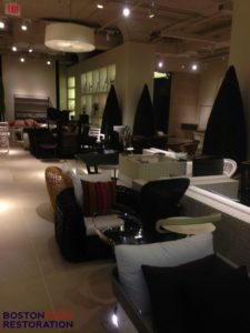 design center limestone floor restoration